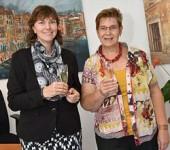 Ute Schmeiser und Ute Hilbradt bei der erfolgreichen Büroeröffnung im September 2014